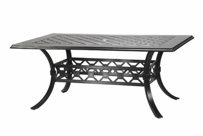 """The Mimosa Collection Commercial Cast Aluminum 42"""" x 72"""" Rectangle Dining Table"""