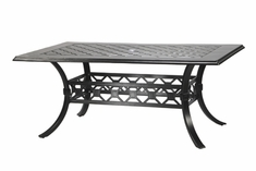 "The Mimosa Collection Commercial Cast Aluminum 42"" x 72"" Rectangle Dining Table"