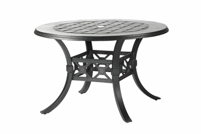 "The Mimosa Collection Commercial Cast Aluminum 48"" Round Dining Table"