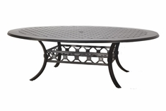 "The Mimosa Collection Commercial Cast Aluminum 60"" x 80"" Oblong Dining Table"