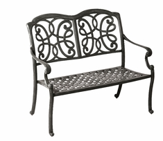 The Molina Collection Commercial Cast Aluminum Bench