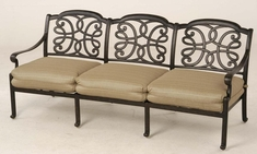 The Molina Collection Commercial Cast Aluminum Sofa
