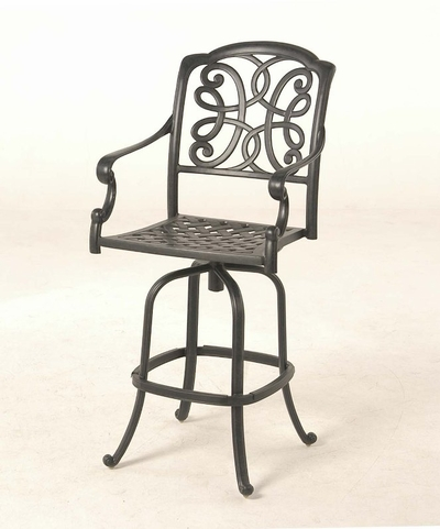 The Molina Collection Commercial Cast Aluminum Swivel Bar Height Chair