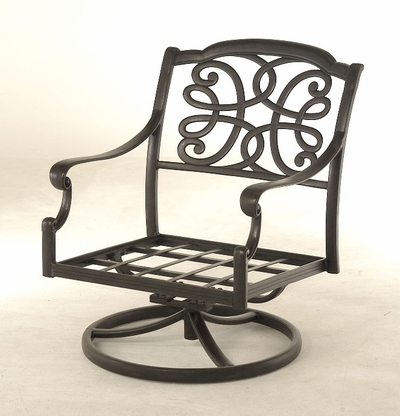 The Molina Collection Commercial Cast Aluminum Swivel Club Chair