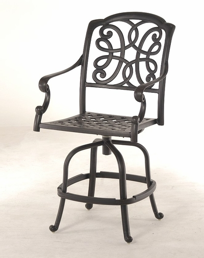 The Molina Collection Commercial Cast Aluminum Swivel Counter Height Chair