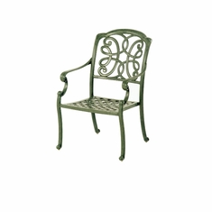 The Molina Collection Commercial Cast Aluminum Stationary Dining Chair