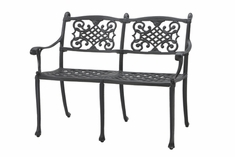 The Montego Collection Commercial Cast Aluminum Bench
