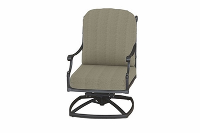 The Montego Collection Commercial Cast Aluminum High Back Swivel Club Chair