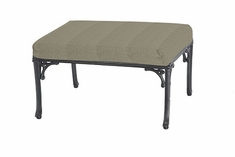 The Montego Collection Commercial Cast Aluminum Ottoman