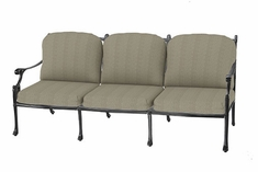 The Montego Collection Commercial Cast Aluminum Sofa