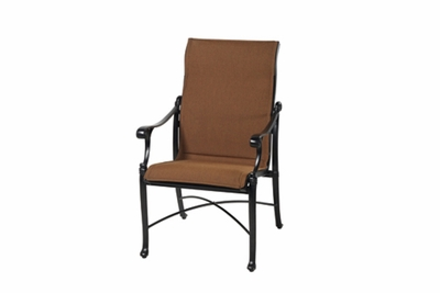 The Montego Collection Commercial Padded Sling Standard Back Stationary Dining Chair
