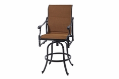 The Montego Collection Commercial Padded Sling Swivel Bar Height Chair