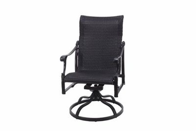 The Montego Collection Commercial Wicker Standard Back Swivel Dining Chair
