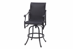 The Montego Collection Commercial Wicker Swivel Bar Height Chair