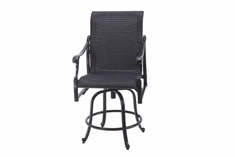 The Montego Collection Commercial Wicker Swivel Counter Height Chair