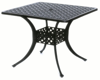 "The Nassau Collection Commercial Cast Aluminum 36"" Square Dining Table"