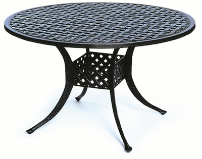 "The Nassau Collection Commercial Cast Aluminum 48"" Round Dining Table"