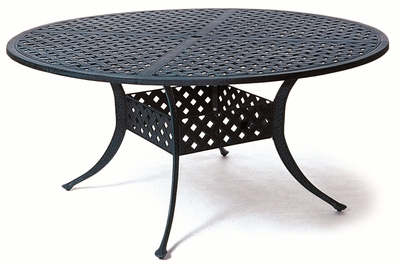 "The Nassau Collection Commercial Cast Aluminum 60"" Round Dining Table"