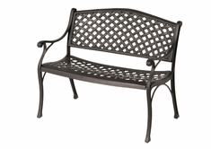 The Nassau Collection Commercial Cast Aluminum Bench