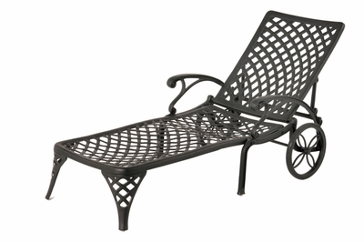 The Nassau Collection Commercial Cast Aluminum Chaise Lounge