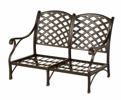 The Nassau Collection Commercial Cast Aluminum Loveseat