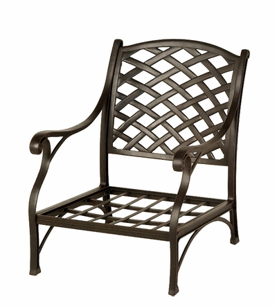 The Nassau Collection Commercial Cast Aluminum Stationary Club Chair