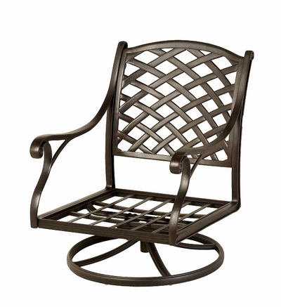 The Nassau Collection Commercial Cast Aluminum Swivel Club Chair