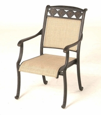 The Neiman Collection Commercial Cast Aluminum Sling Stationary Dining Chair