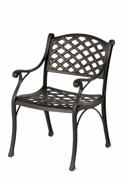 The Nassau Collection Commercial Cast Aluminum Stationary Dining Chair