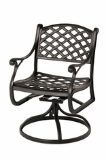 The Nassau Collection Commercial Cast Aluminum Swivel Dining Chair