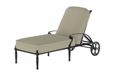 The Oceana Collection Commercial Cast Aluminum Chaise Lounge