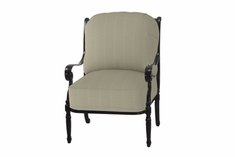 The Oceana Collection Commercial Cast Aluminum Stationary Club Chair