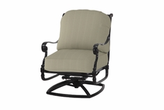 The Oceana Collection Commercial Cast Aluminum Swivel Club Chair