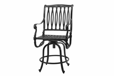 The Oceana Collection Commercial Cast Aluminum Swivel Counter Height Chair