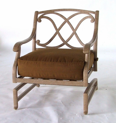 The Palazzo Collection Commercial Cast Aluminum Spring Base Club Chair