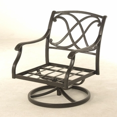The Palazzo Collection Commercial Cast Aluminum Swivel Club Chair