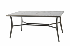 "The Paradise Collection Commercial Cast Aluminum 42"" x 63"" Rectangle Dining Table"