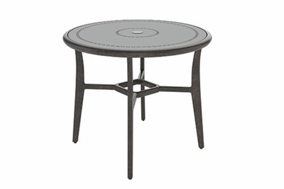 "The Paradise Collection Commercial Cast Aluminum 48"" Round Bar Height Table"