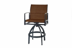 The Paradise Collection Commercial Cast Aluminum Padded Sling Counter Height Chair