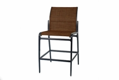 The Paradise Collection Commercial Cast Aluminum Padded Sling Stationary Counter Height Chair