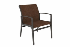 The Paradise Collection Commercial Cast Aluminum Padded Sling Stationary Dining Chair
