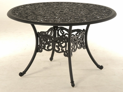 The Paxton Collection Commercial Cast Aluminum Round Dining Table