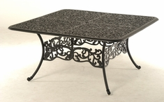 The Paxton Collection Commercial Cast Aluminum Square Dining Table