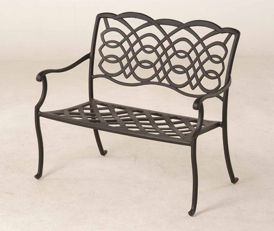 The Piza Collection Commercial Cast Aluminum Bench