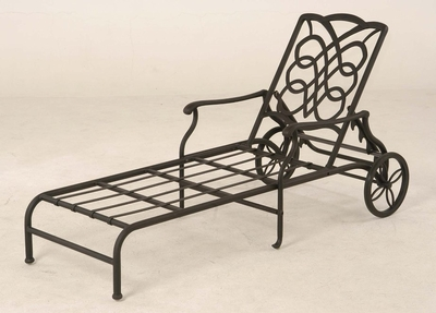 The Piza Collection Commercial Cast Aluminum Chaise Lounge