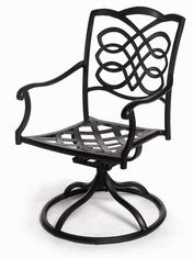 The Piza Collection Commercial Cast Aluminum Swivel Dining Chair