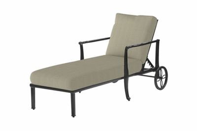 The Raven Collection Commercial Cast Aluminum Chaise Lounge