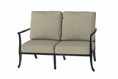The Raven Collection Commercial Cast Aluminum Loveseat