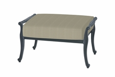 The Raven Collection Commercial Cast Aluminum Ottoman