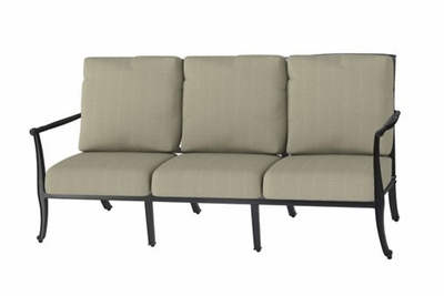 The Raven Collection Commercial Cast Aluminum Sofa